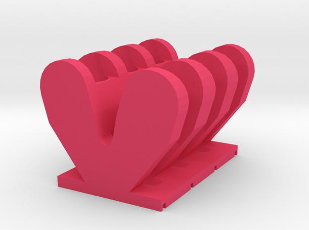 Magnetic Rack for 1.5ml Centrifuge Tubes in Pink Processed Versatile Plastic: Medium