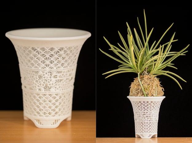"Neo Pot - Model 7 - Size 3.0 (3.7"" OD) in White Natural Versatile Plastic"