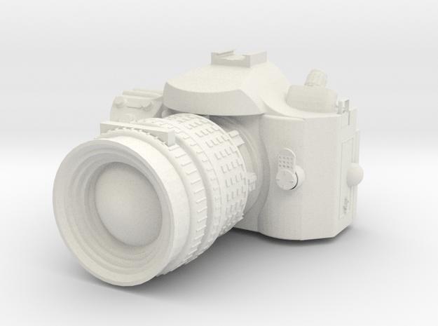 Camera keychain in White Natural Versatile Plastic