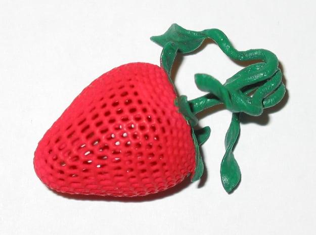 Strawberry Pendant in Red Processed Versatile Plastic