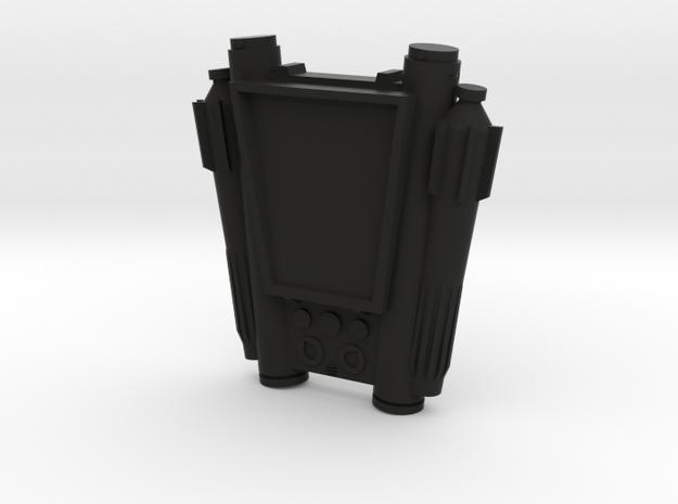 Datapad in Black Natural Versatile Plastic