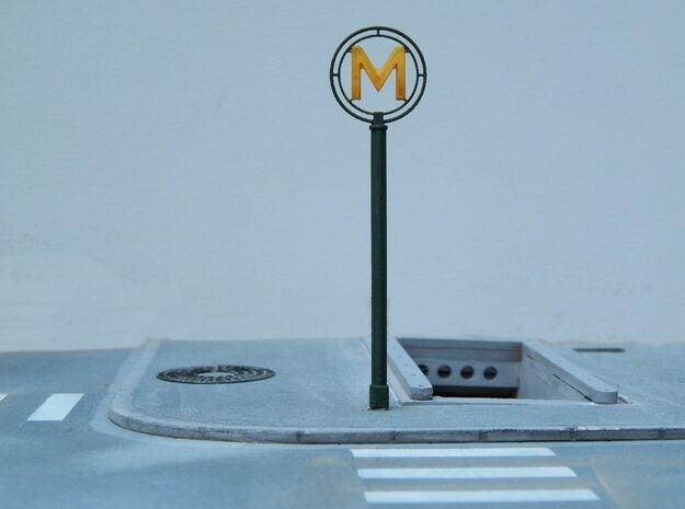 HO/O - Mat Metro Inox 70 Paris in Smoothest Fine Detail Plastic: 1:87 - HO
