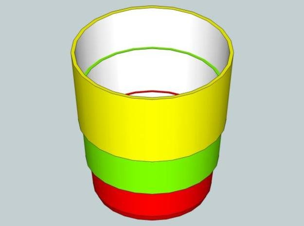 Glass cone in White Natural Versatile Plastic
