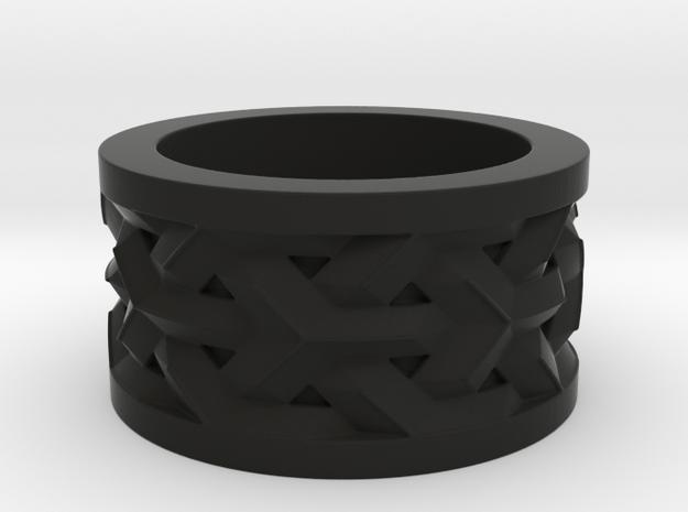 woven ring in Black Natural Versatile Plastic: 10 / 61.5