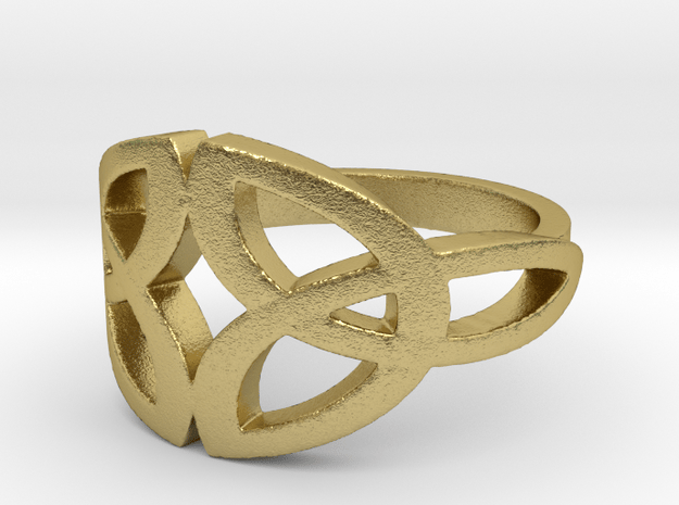 Celtic knot Ring Size 7 in Natural Brass: 7 / 54