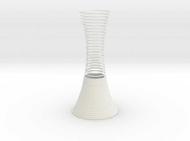 Vase 05144 in White Natural Versatile Plastic