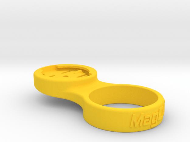 """Garmin Stem Cap Mount 1-1/4"""" - 0deg in Yellow Processed Versatile Plastic"""