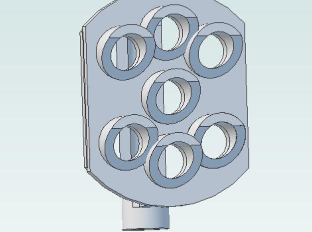 Position Light 7 Bulbs pair  Pennsy RR in White Natural Versatile Plastic