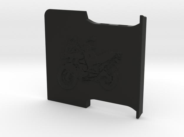 Lockable Garmin 595 Base Plate - Cover II in Black Natural Versatile Plastic