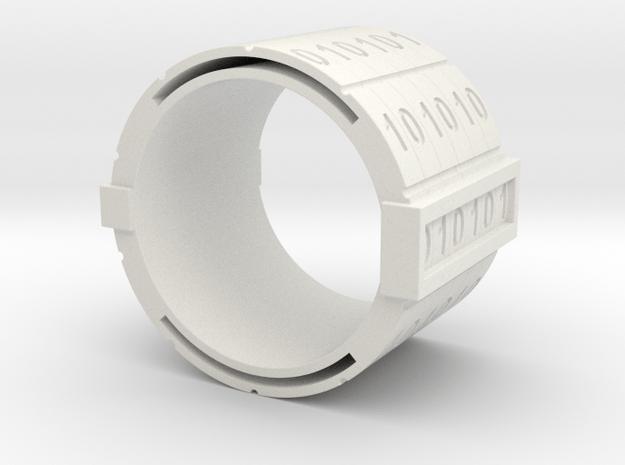 nfc binary ring in White Natural Versatile Plastic