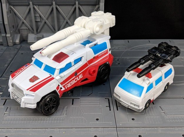TF Combiner Wars First Aid Car Cannon in White Natural Versatile Plastic