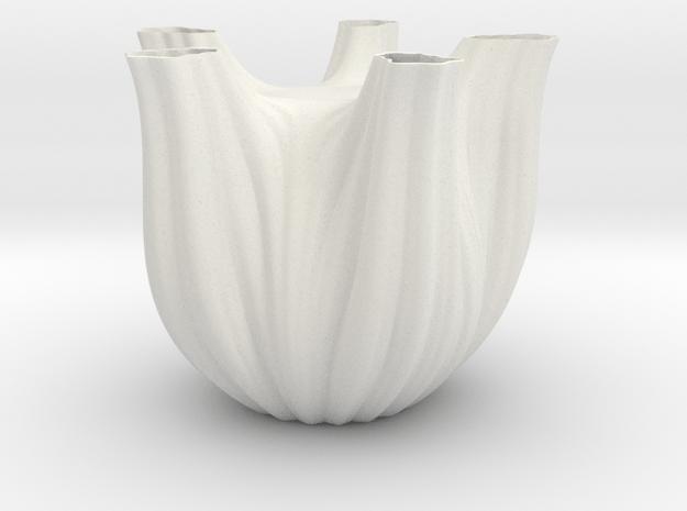 Vase 1752F in White Natural Versatile Plastic