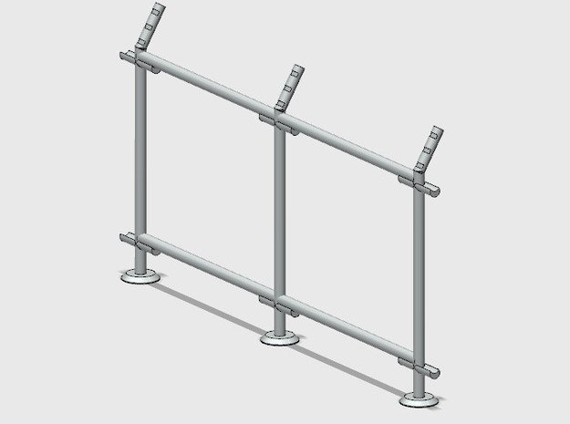 10' Straight Fence Frame, 2-Bay (2 ea.) in White Natural Versatile Plastic: 1:87 - HO
