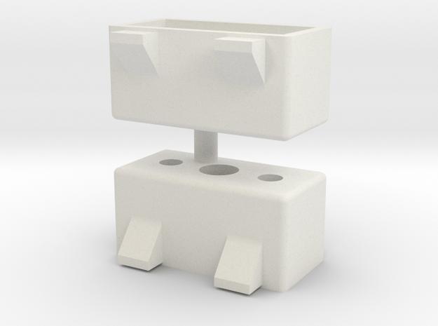 039004-01 Tamiya Willy's Wheeler Fog Lamp Housings in White Natural Versatile Plastic