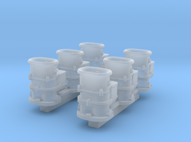 6x2 Stromberg Carbs with SP tops in Smooth Fine Detail Plastic