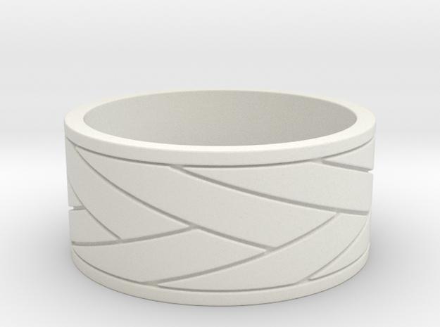 Sword wrap  Ring  in White Natural Versatile Plastic: 10 / 61.5