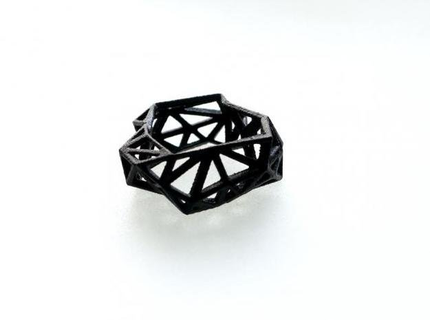 Triangulated Ring     in Black Natural Versatile Plastic: 7 / 54