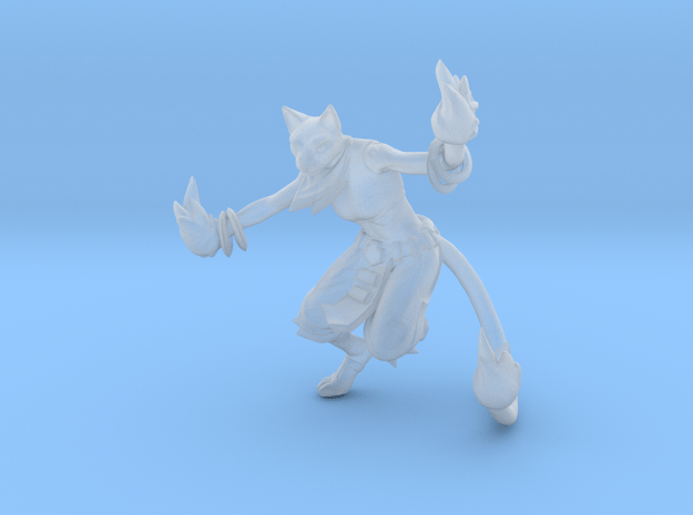 Tabaxi Wizard in Smooth Fine Detail Plastic