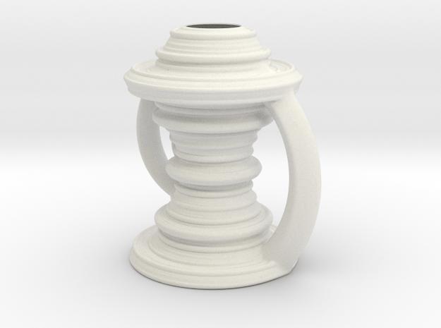 Vase 090921 in White Natural Versatile Plastic