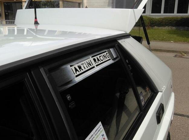"""Lancia Delta 1 """"Martini Racing"""" window Shield 2 in White Natural Versatile Plastic"""