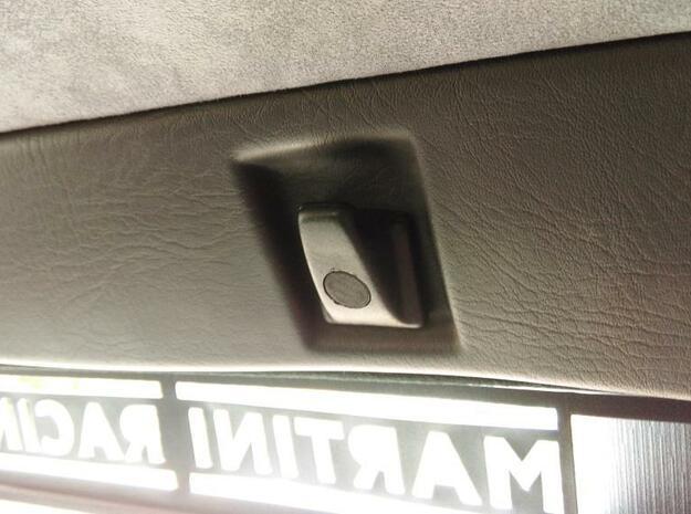Lancia Delta 1 hook plug Kleiderhaken in Black Natural Versatile Plastic