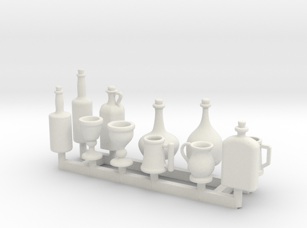 Tankards, Wine and Liquor bottle for 1/12 scale se