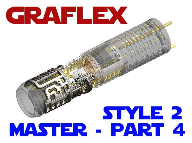 Graflex Master - Part4 Style2 - Shell2 in White Natural Versatile Plastic