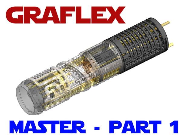 Graflex Master - Part 1 - Lightsaber Chassis in White Natural Versatile Plastic
