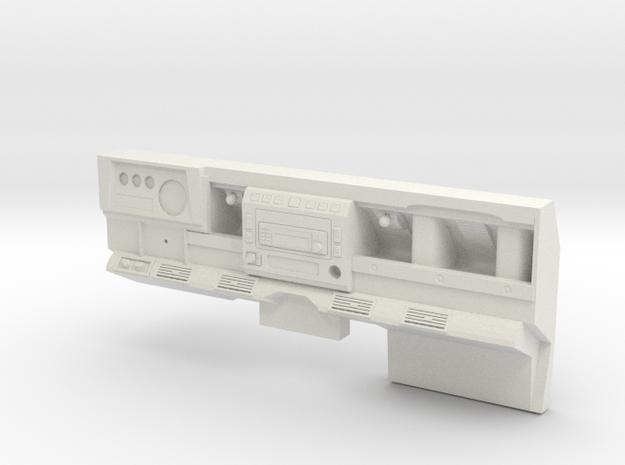 Defender D90 Dash Left Side Drive Highly detailed  in White Natural Versatile Plastic