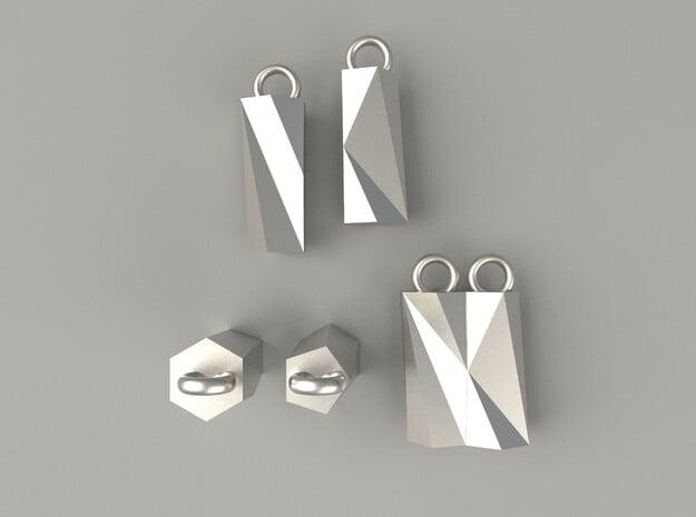 Scutoid Earrings - Mathematical Jewelry