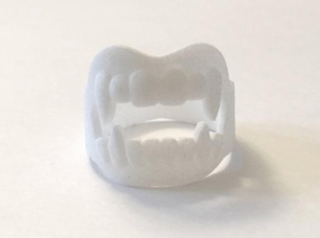 Vampire Fangs Ring in White Processed Versatile Plastic: 9 / 59