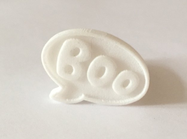Boo Conversation Bubble Ring in White Processed Versatile Plastic: 12 / 66.5