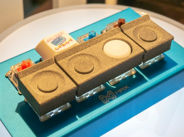 Cassette Recorder Keycap Set in White Natural Versatile Plastic