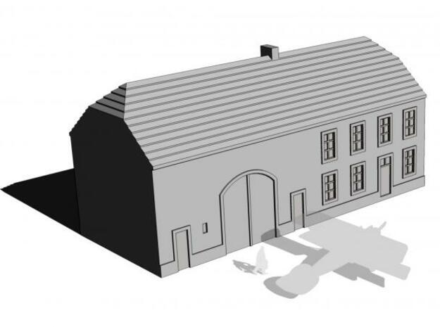 1/350 Barn House 3 in White Natural Versatile Plastic