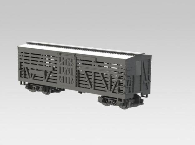Nn3 Stock Car, DRGW 4-pack 2 in Smooth Fine Detail Plastic