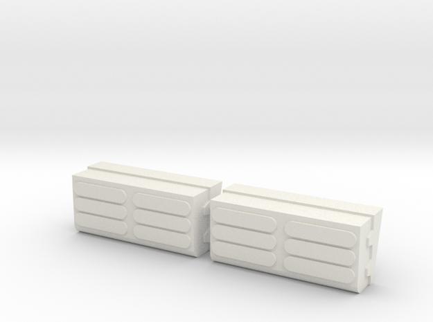 Convertible Boxes in White Natural Versatile Plastic