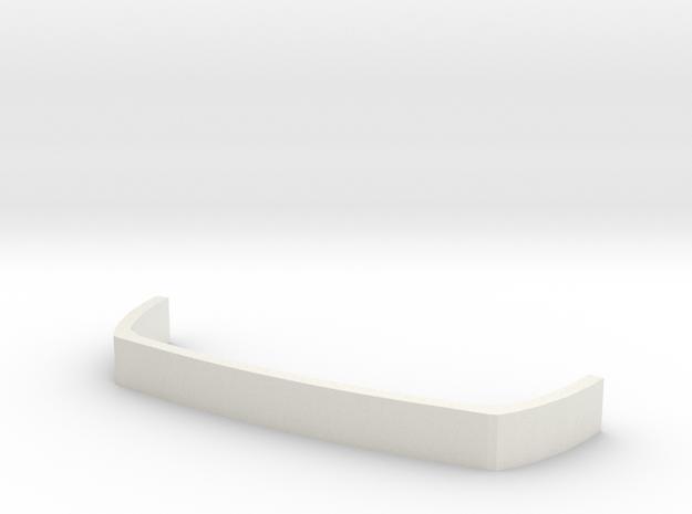 Back Bumper Armor in White Natural Versatile Plastic