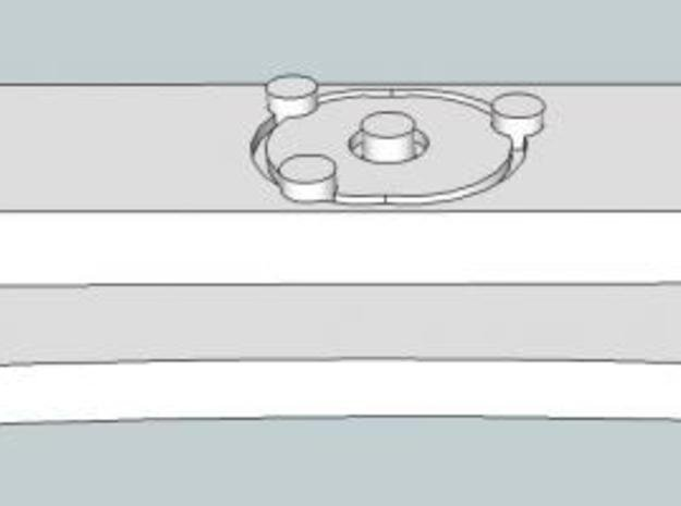 Atomic tie clip in White Natural Versatile Plastic