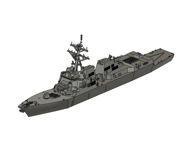 1/1250 USS Michael Murphy in Smooth Fine Detail Plastic