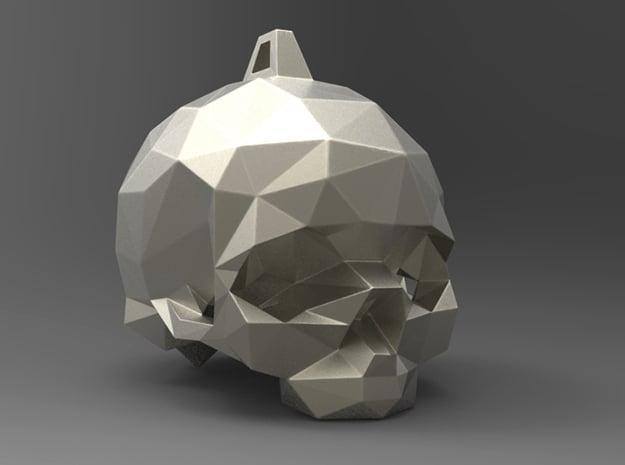 SkullPendant Small in White Natural Versatile Plastic