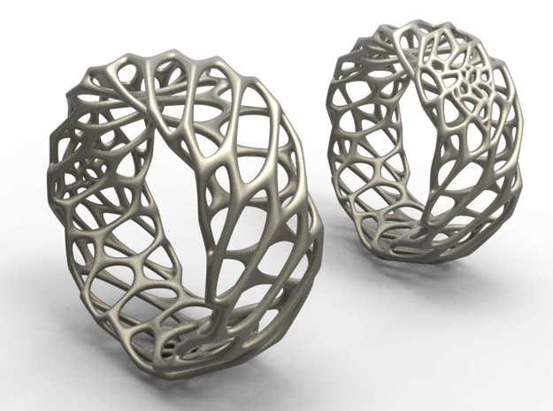 Voro Ring No.1 in Polished Bronzed Silver Steel