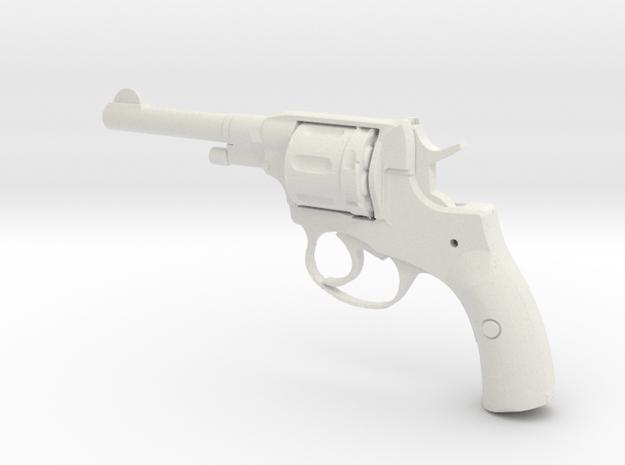 1/3 Scale Nagant Pistol  in White Natural Versatile Plastic