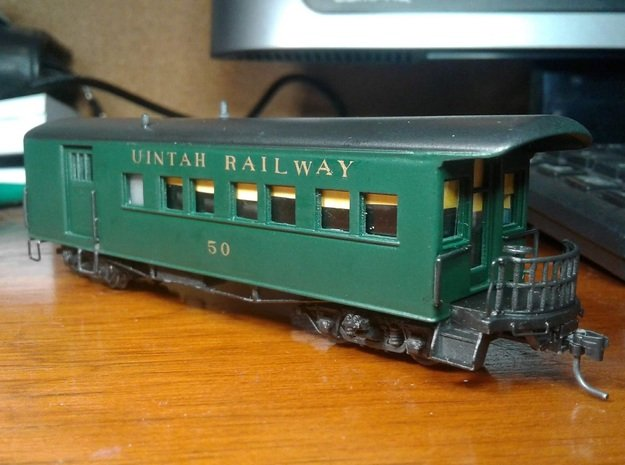 HOn3 Uintah Railway #50 combine shell in Smooth Fine Detail Plastic