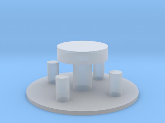 Sitzgruppe mit Baumscheibentisch 1:120 in Smooth Fine Detail Plastic