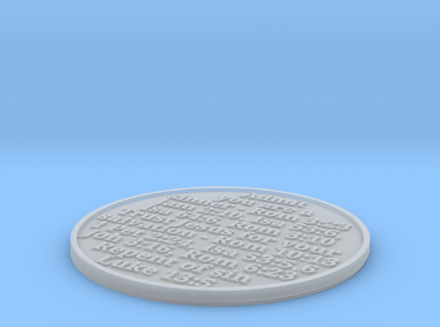 John 3:16 Pocket Witness Coin (b) in Smoothest Fine Detail Plastic