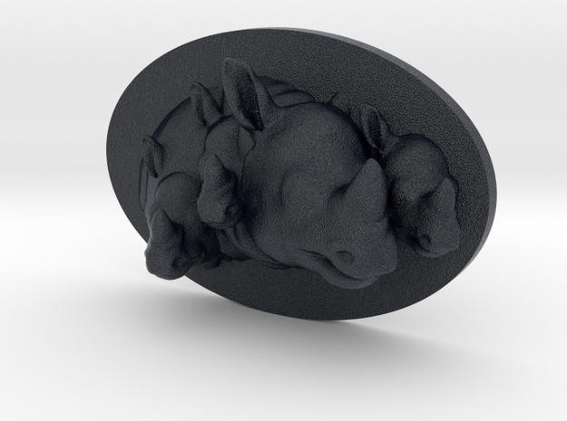 Rhino Multi-Faced Caricature (006) in Black PA12