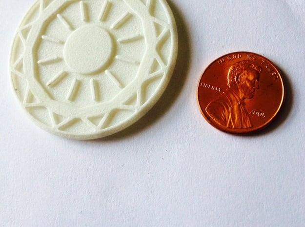 Sun And Leo in White Processed Versatile Plastic