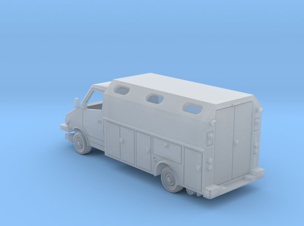 MOW Service Van Box Bed With Windows 1-87 HO Scale