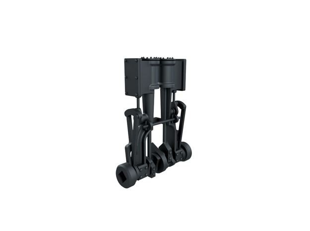 HOn30 Shay 2 Cylinder Engine in Smoothest Fine Detail Plastic