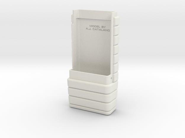 Space: 1999 radiation monitor body bottom - part 2 in White Natural Versatile Plastic